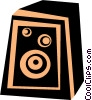 Vector Clip Art image  of a stereo speaker