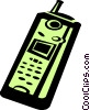 Vector Clipart graphic  of a cell phone