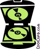Vector Clip Art graphic  of a CD-ROM holder