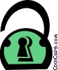 Vector Clip Art image  of a lock