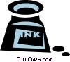 bottle of ink Vector Clipart illustration