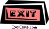 Vector Clipart picture  of a exit sign