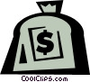 money bag Vector Clipart graphic