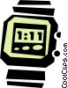digital watch Vector Clipart graphic
