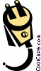 Vector Clipart image  of a electric plug