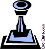 Vector Clip Art picture  of a rubber stamp