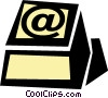 Vector Clipart illustration  of a @ computer key
