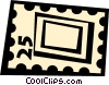Vector Clipart illustration  of a postage stamp