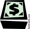 Vector Clipart illustration  of a dollar sign