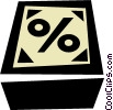Vector Clipart illustration  of a % sign