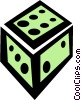 Vector Clip Art graphic  of a dice