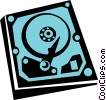 Vector Clip Art graphic  of a hard drive