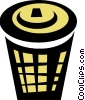 garbage can Vector Clipart graphic