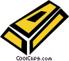 Vector Clipart picture  of a gold bullion