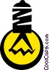 Vector Clipart picture  of a light bulb