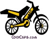 motorcycle Vector Clip Art graphic