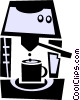 cappuccino machine Vector Clip Art picture
