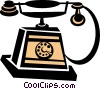 Vector Clip Art graphic  of an antique telephone