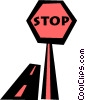 stop sign Vector Clipart illustration
