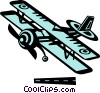 Vector Clipart picture  of a biplane