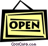 Vector Clipart illustration  of a open sign