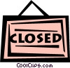 closed sign Vector Clip Art image