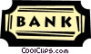 bank sign Vector Clip Art graphic