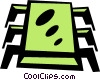 Vector Clip Art graphic  of a processor chip