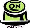 Vector Clipart graphic  of a on button