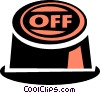 off button Vector Clipart illustration