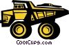 Vector Clip Art graphic  of a dump truck
