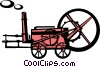 Vector Clipart picture  of an antique farm equipment