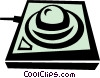 Vector Clip Art graphic  of a computer pointing device