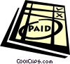 Vector Clipart image  of a paid invoice