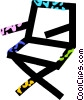 Vector Clip Art picture  of a director's chair