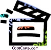 clapboard Vector Clip Art graphic