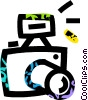 Vector Clip Art picture  of a camera