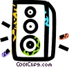 Vector Clip Art picture  of a speaker