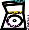 Vector Clip Art image  of a CD holder