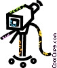 television camera Vector Clip Art picture