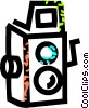 Vector Clip Art image  of a early camera