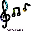 musical notes Vector Clipart picture