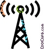 radio tower Vector Clip Art graphic
