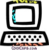 personal computers Vector Clipart graphic