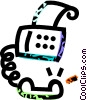 fax\phone Vector Clipart graphic