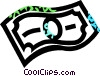 Vector Clipart image  of a dollar bill