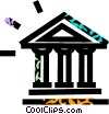 bank symbol Vector Clipart illustration