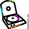 Vector Clip Art graphic  of a CD roms