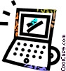 laptop computers Vector Clip Art picture