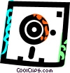 Vector Clip Art graphic  of a diskette